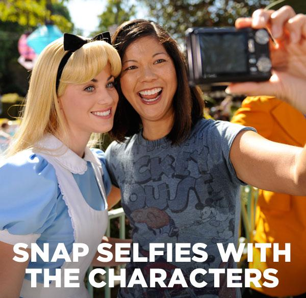 Snap selfies with the characterl