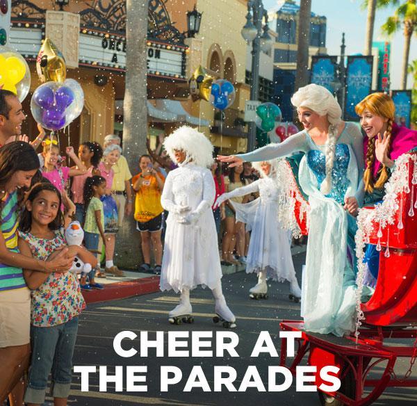 Cheer at the parades