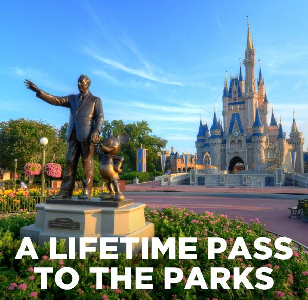 A lifetime pass to the parks