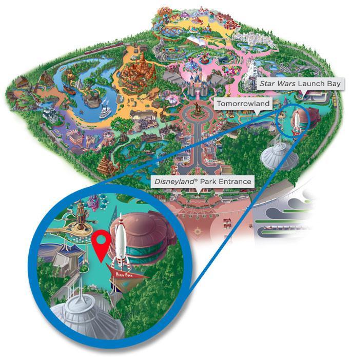Walt Disneyland Map