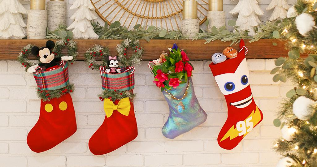 Disney Cars Christmas Decorations.Crafty Disney Stockings For The Holidays Disney Credit Cards