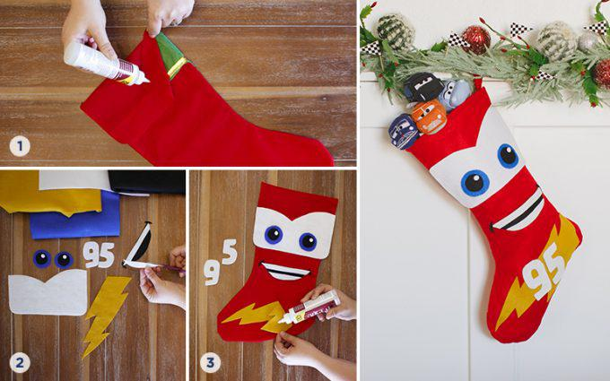 Disney Cars Inspired DIY Stocking Step by Step Instructions