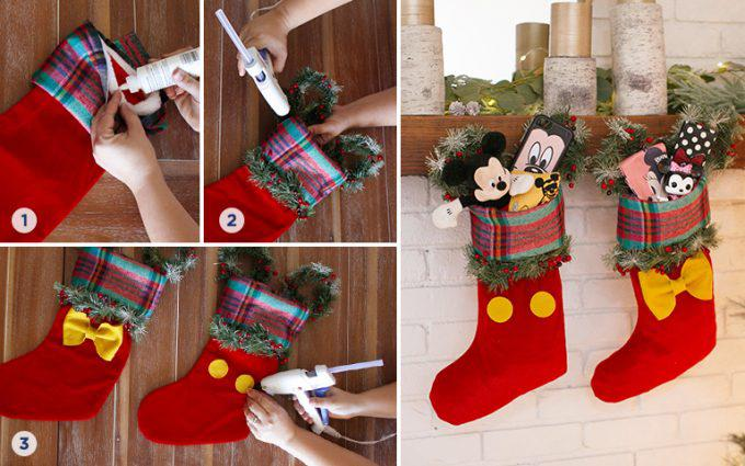 Disney Mickey and Minnie Inspired DIY Stocking Step by Step Instructions