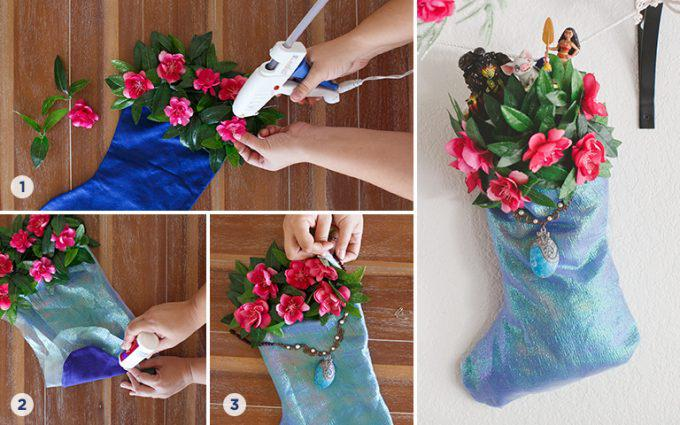 Disney Moana Inspired DIY Stocking Step by Step Instructions