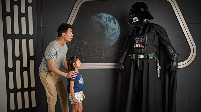 Darth Vader with Disney Fans