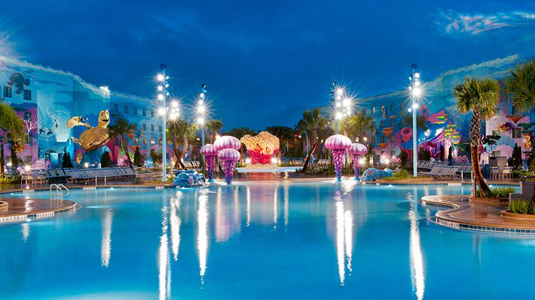 Disney Resort Big Blue Pool