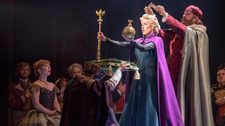 Disney Elsa preforming in Frozen on Broadway