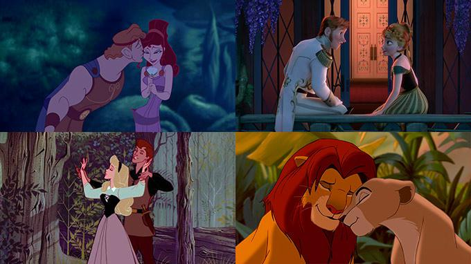 Disney Couples Sleeping Beauty, Hurcules & The Lion King