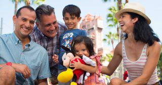 Multi generational family enjoying Walt Disney World Resort