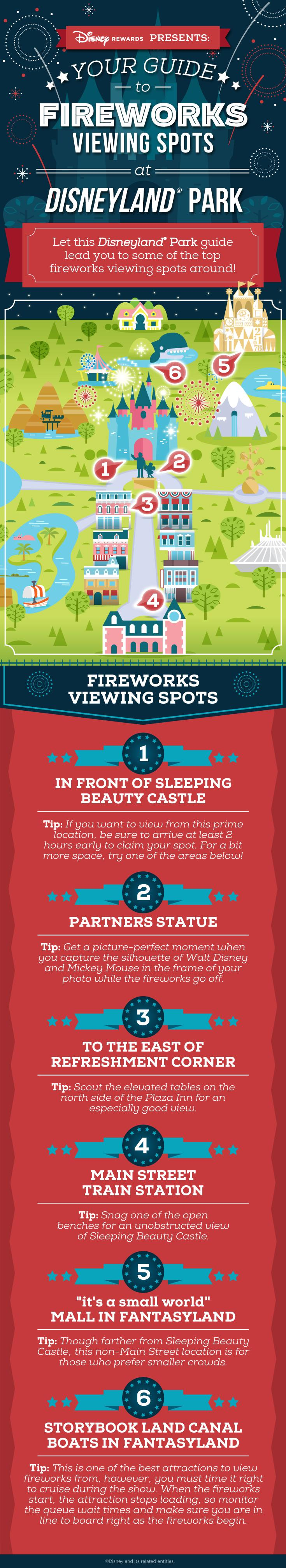 Disneyland fireworks viewing spots