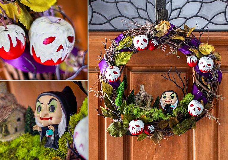 Snow White Halloween Wreath