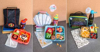 Disney themed lunchboxes and food