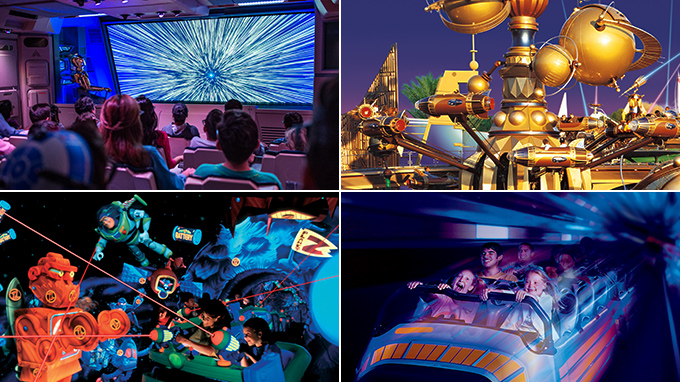 Disneyland Star Tours® – The Adventures Continue, Astro Orbitor, Buzz Lightyear Astro Blasters, Space Mountain