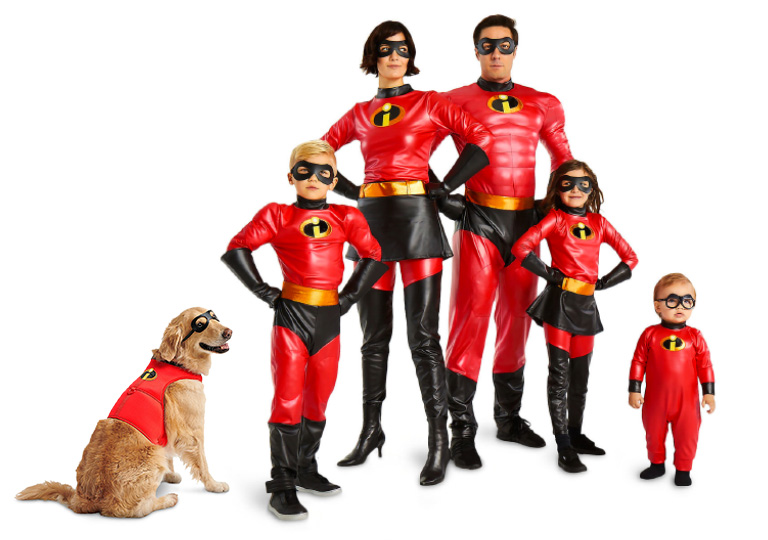 matching Incredibles family costumes