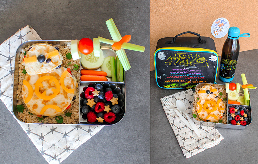 Star Wars lunch box with themed food