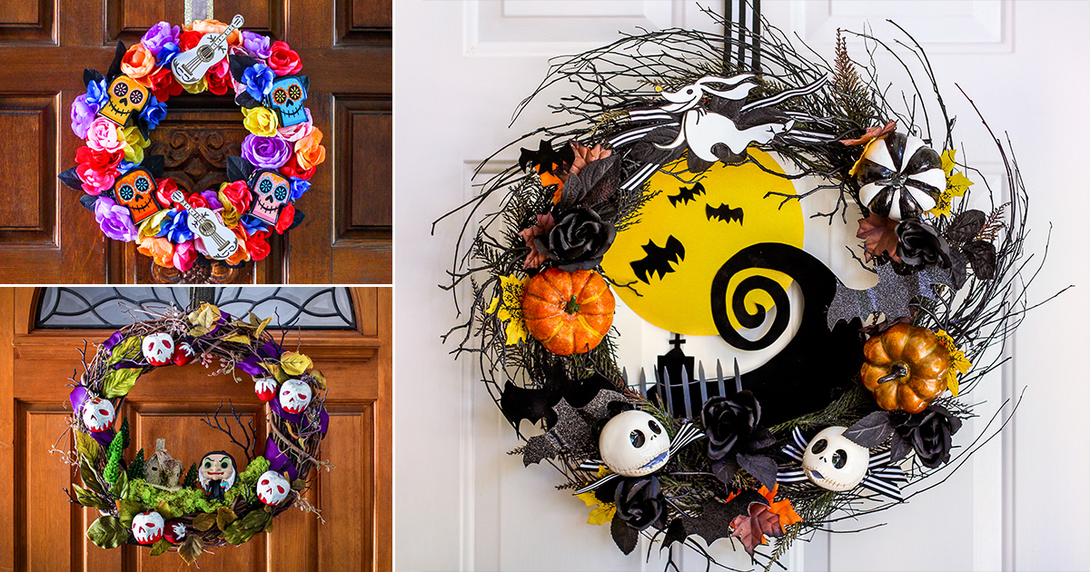 3 Disney Halloween Wreath Diys Disney Credit Cards