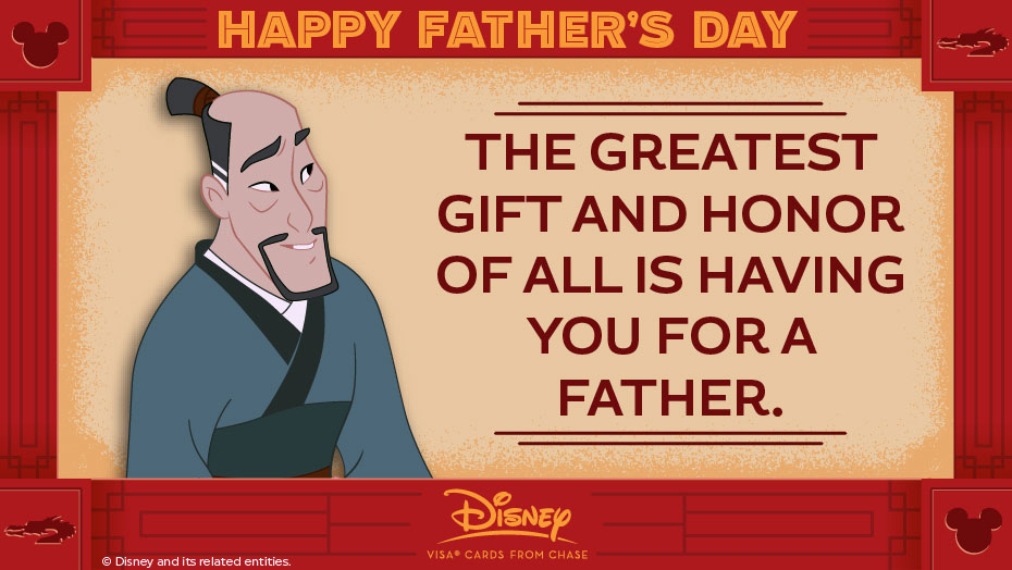 Disney Father Day FaZhou