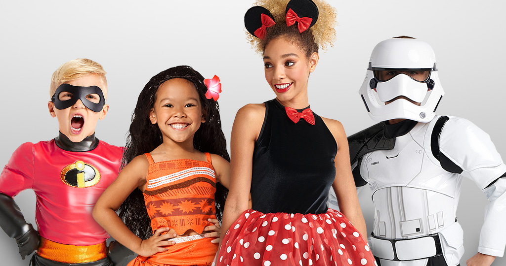 Dash Moana Minnie Mouse Stormtrooper costumes halloween