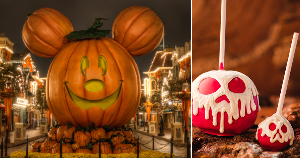 Disneyland main street USA pumpkin halloween candied apples
