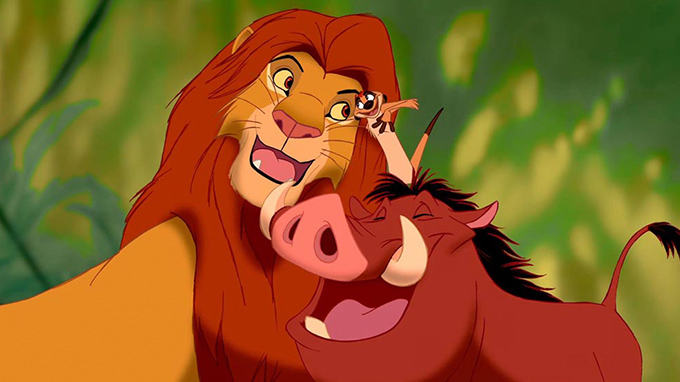 Simba, Timon and Pumbaa Lion King