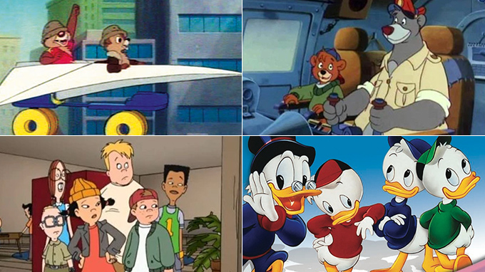 Chip 'n Dale: Rescue Rangers, TaleSpin, Recess, DuckTales