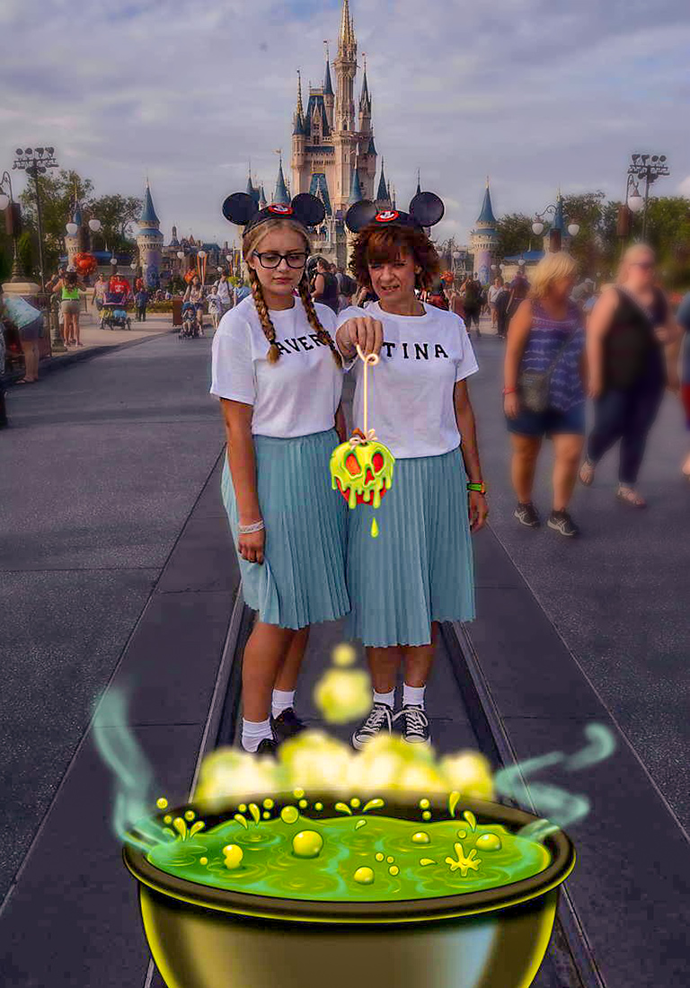 Tina and daughter at Mickey's Not So Scary Halloween Party
