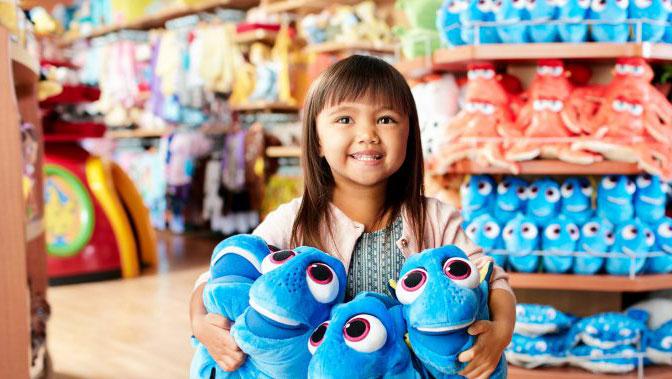Girl at Disney Store