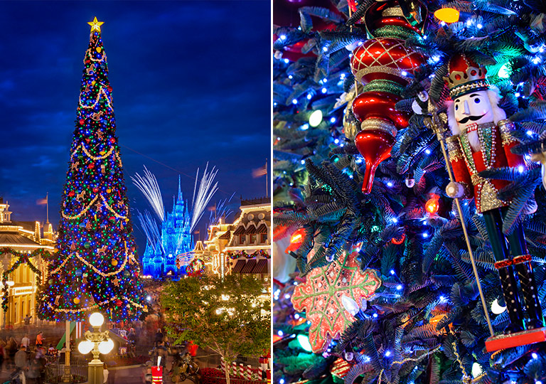 Disney town square holiday Christmas tree