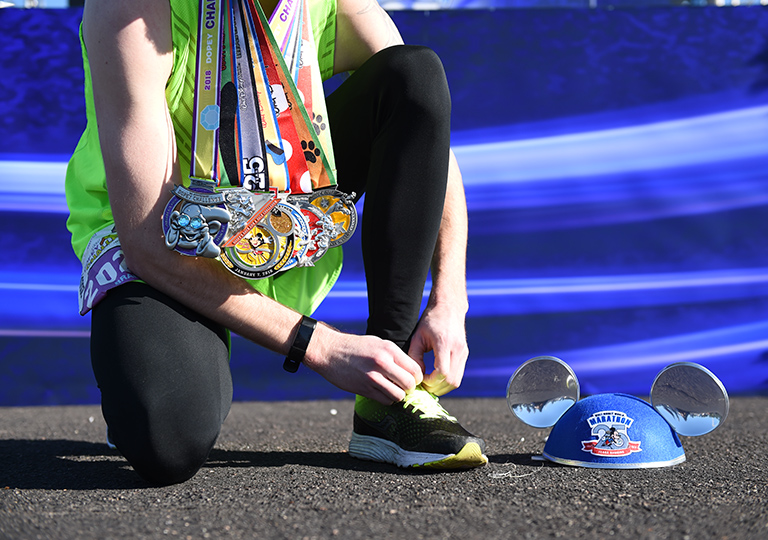 runDisney winner with medals