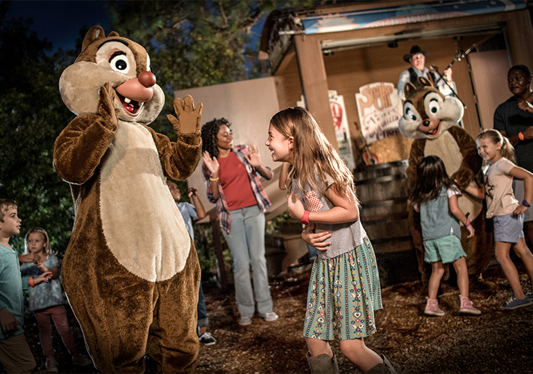 Disney sing-a-long with chip and dale at disney's fort wilderness resort