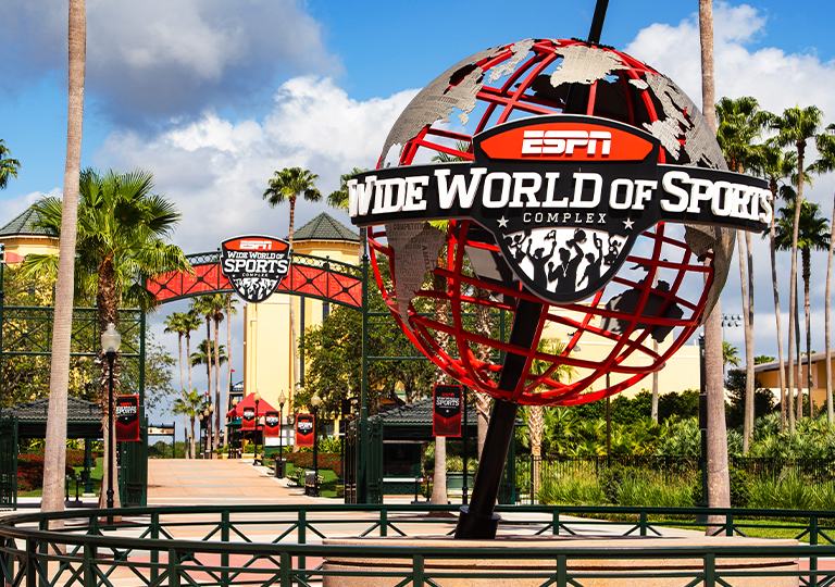ESPN sports complex entrance at walt disney world resort