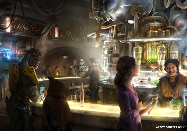 Oga's Cantina concept art at Star Wars Galaxy's Edge
