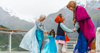Disney Cruise Line Norway Elsa and Anna