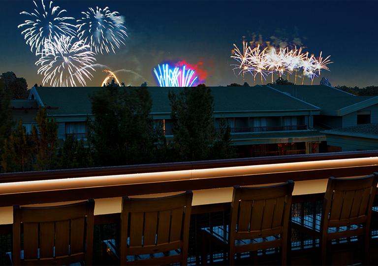 Disney's Grand Californian Hotel Fireworks