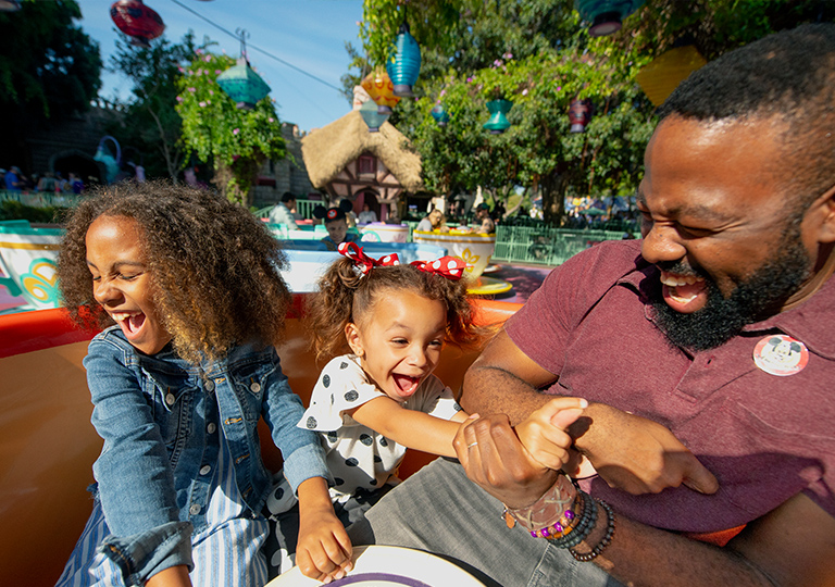 Disneyland spinning tea cups family