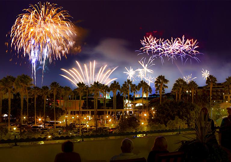 Disney's Paradise Pier Hotel Fireworks