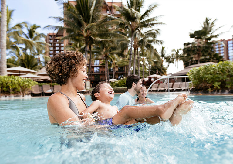 Disney's Aulani Family Swimming