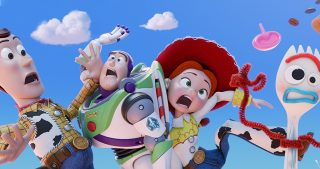 Woody, Buzz, Jesse and Forky