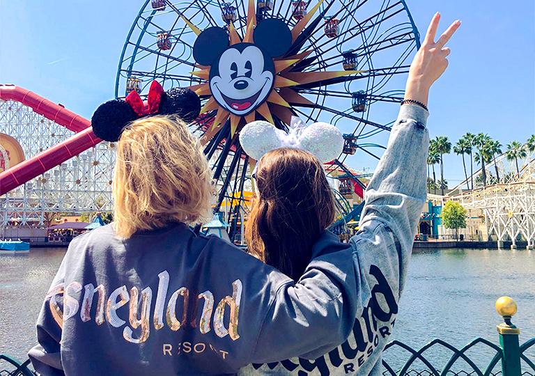 girls posing at Disney California Adventure
