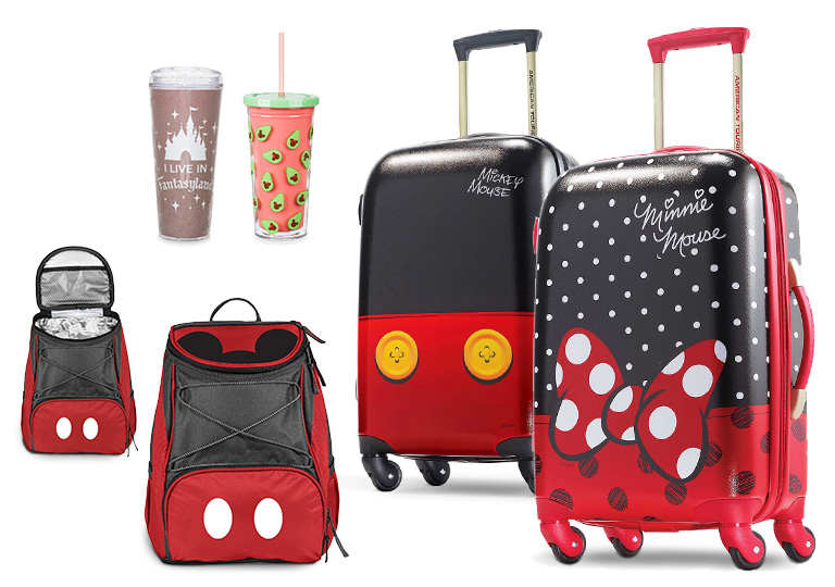 Disney tumbers backpack cooler and suitcases