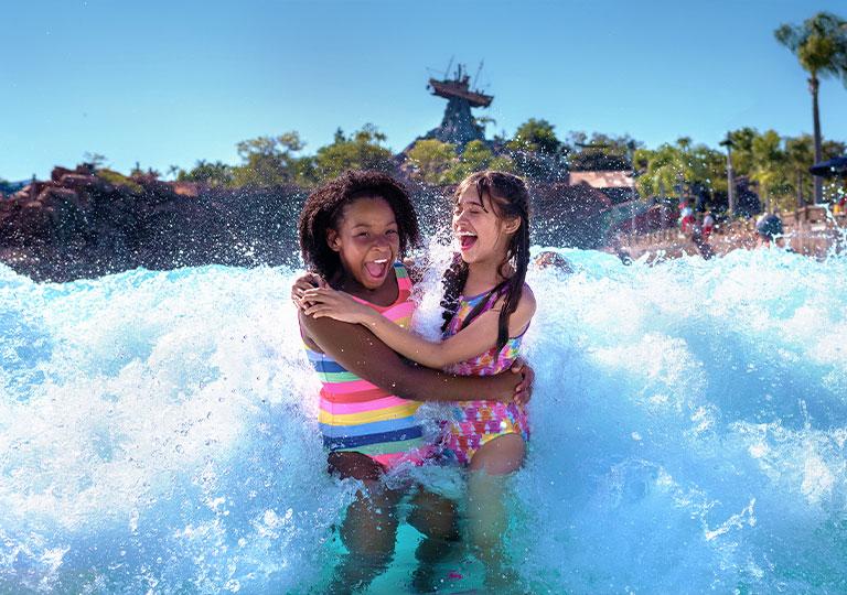 girls tweens at typhoon lagoon disney