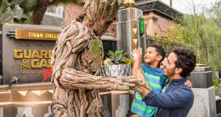Groot and Guests at Disney