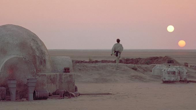 Luke Skywalker silhouette