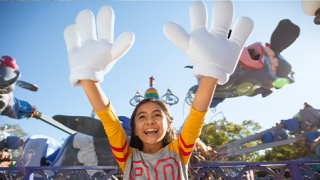 Girl with Mickey hands