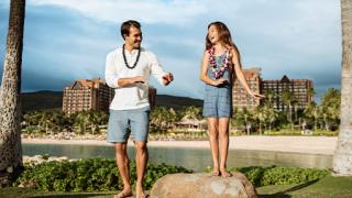 Couple at Aulani Resort