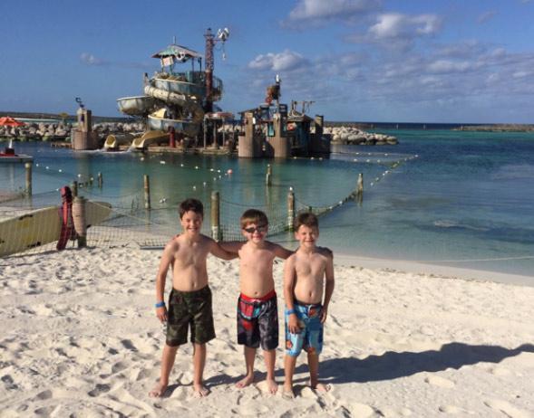 Boys at the Disney Beach