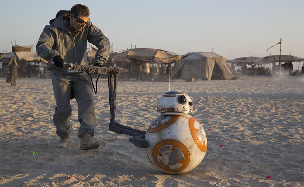 Animatronic Operator controlling BB-8