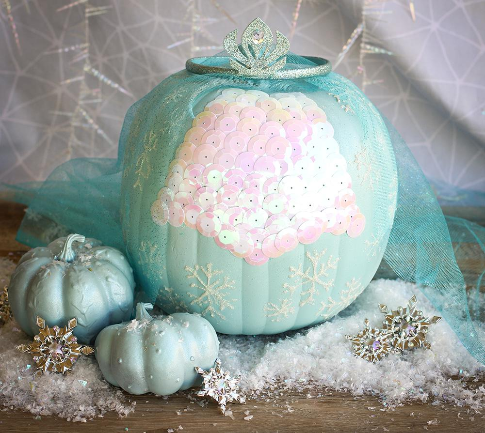 Frozen-Pumpkin-Craft