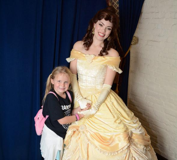 Disney Belle Actress with Girl