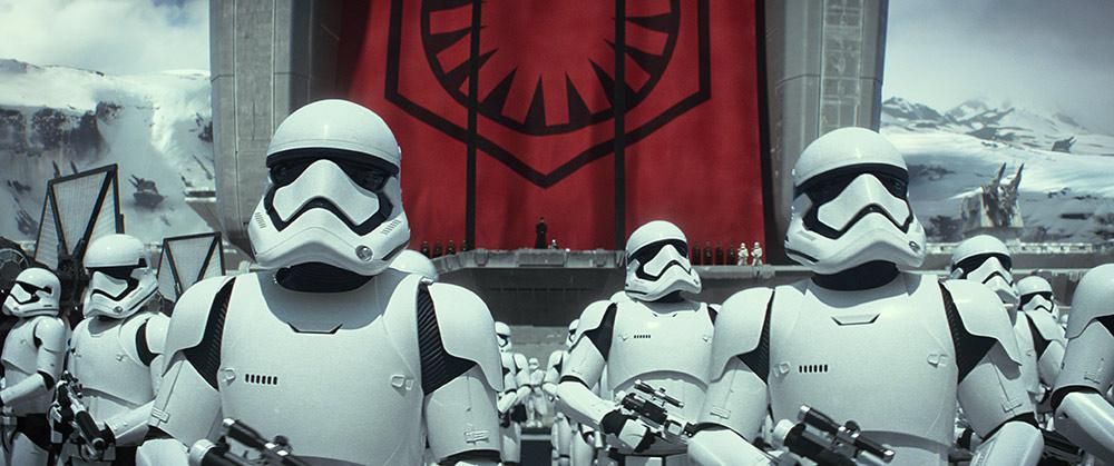 Stormtroopers lined up and ready for battle